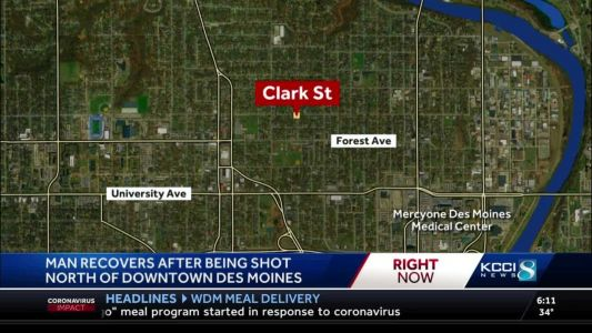 No arrests after 1 injured in Des Moines drive-by shooting