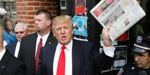 Trump is getting rid of the White House's subscriptions to The New York Times and The Washington Post