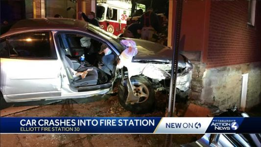 Two recovering after car crashes into Pittsburgh fire station
