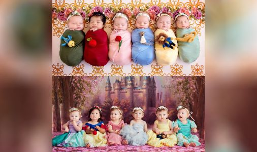 Roseville photographer reunites baby princesses on 1st birthday