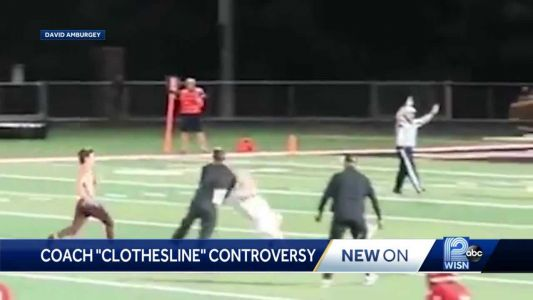 On camera: Coach clotheslines student who ran on football field