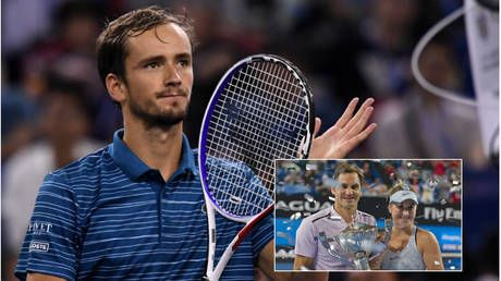'Roger would definitely like to play Medvedev on Red Square!' Federer doubles partner Bencic at Kremlin Cup