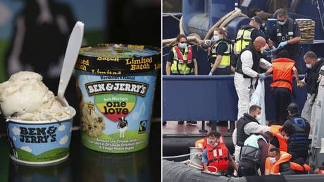 'A large scoop of virtue signaling': Ben & Jerry's takes licking on Twitter after attacking UK govt's treatment of migrants
