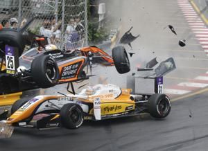 Teenage driver survives spectacular crash at F3 Macau GP