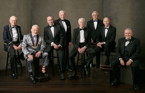 8 of the surviving Apollo astronauts got together for the 50th anniversary of the moon landing, and Buzz Aldrin's outfit stole the show