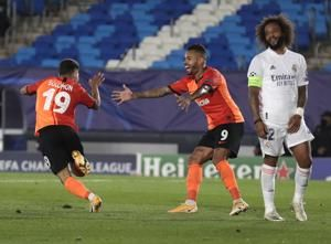 Shakhtar team depleted by coronavirus stuns Real Madrid 3-2