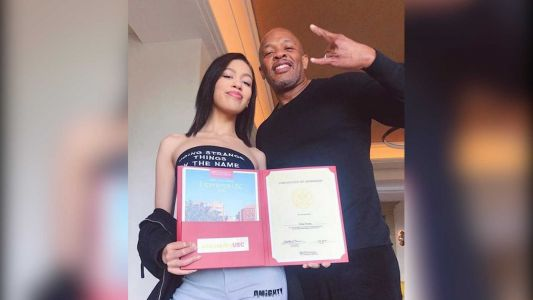 Rapper Dr. Dre celebrates his daughter getting into USC 'on her own'