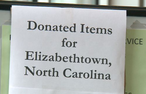 Elizabethtown collects disaster supplies for East Coast namesake