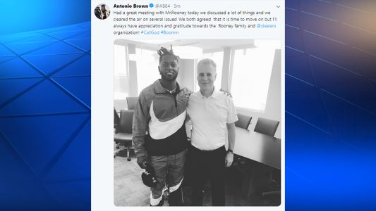Antonio Brown posts that he, Art Rooney II agree 'it is time to move on' after meeting