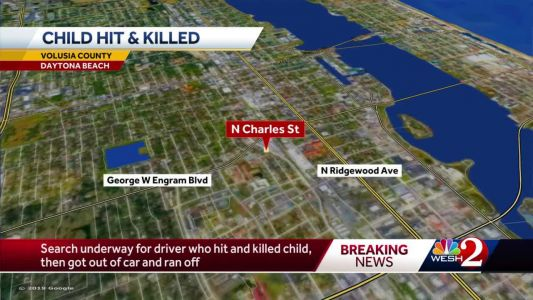 Search underway for driver who hit, killed child, then ran off, police say