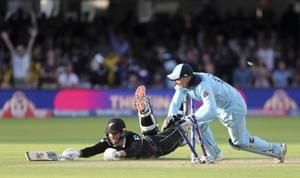 NZ falls meters short of Cricket World Cup glory