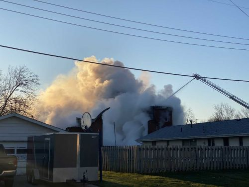 Church fully-engulfed in flames as fire crews arrive