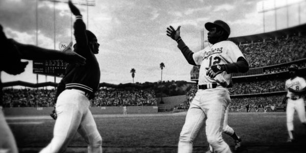 Today is National High Five Day - this photo from 1977 shows the first ever high five