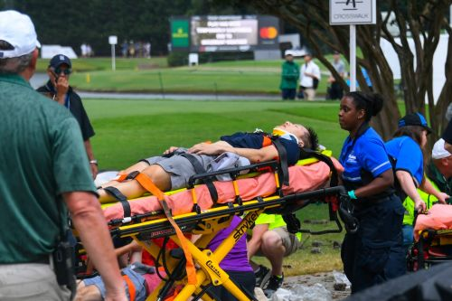 Golf-Six spectators hurt after lightning strike at Tour Championship