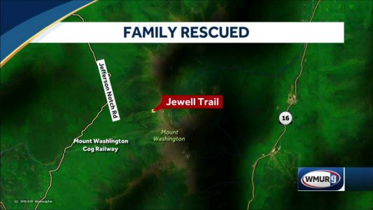 Hikers helped down Mt. Washington trail after getting disoriented in darkness