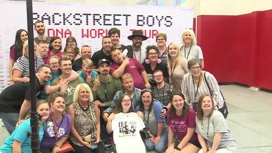 WATCH: Backstreet Boys share special moment with Down syndrome group before concert