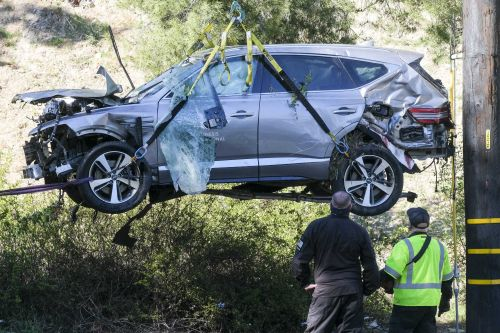 Tiger Woods was speeding as fast as 87 mph before car crash, cops say