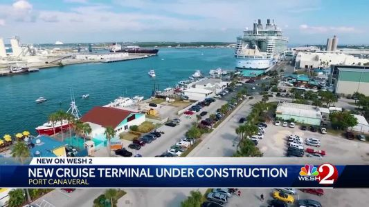 New cruise terminal under construction at Port Canaveral