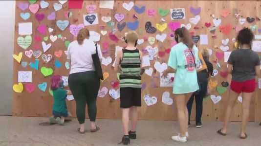 Neighbors rally to spread the love after messages of support are torn down in Naperville