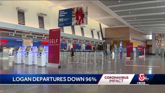 What Boston's Logan Airport looks like with passenger traffic down almost 97%