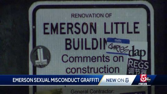 Graffiti referencing sexual misconduct found scrawled at college
