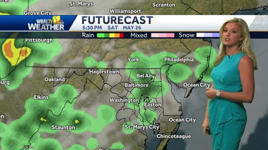 Mostly sunny, more humid Friday