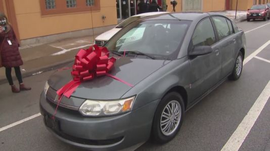 Business surprises single mom with new car after thieves steal hers