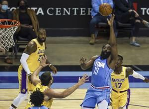 Harden sees title chance, says he'll sacrifice shots for it