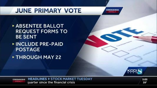 Iowa voters to receive ballots by mail for June primary
