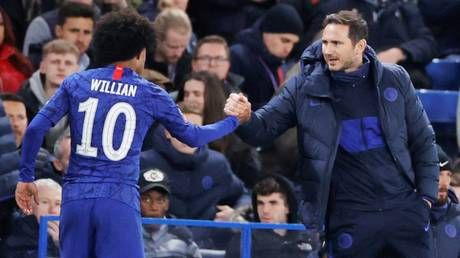 No hard feelings: Chelsea boss Frank Lampard says there will be no bad blood if Willian exits Premier League club