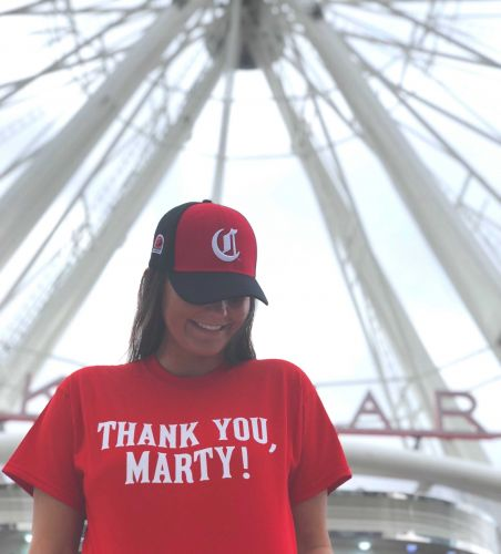 First 500 people to ride Cincinnati's SkyStar Thursday to receive free 'Thank you, Marty' T-shirt