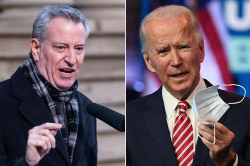 De Blasio pleads with Biden for quick action on COVID vaccine shortage