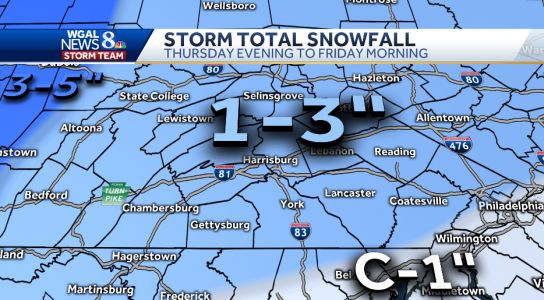 Central Pa. weather: Back-to-back winter storms stay on track