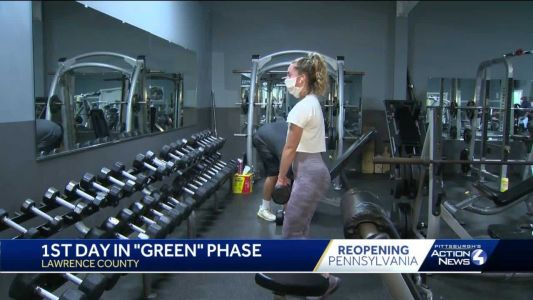 Lawrence County is officially 'green;' gyms and salons are open for business