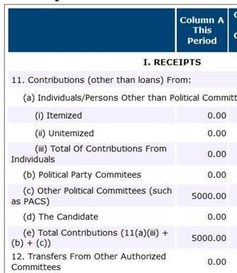 Chris Collins' Q1 Fundraising Report: $0 raised from Humans, $20,000 spent on Lawyers