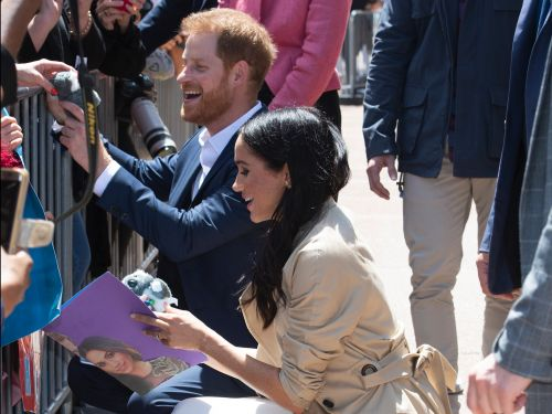 Meghan Markle and Prince Harry broke from royal tradition to take a picture with a young fan they thought resembled the duchess