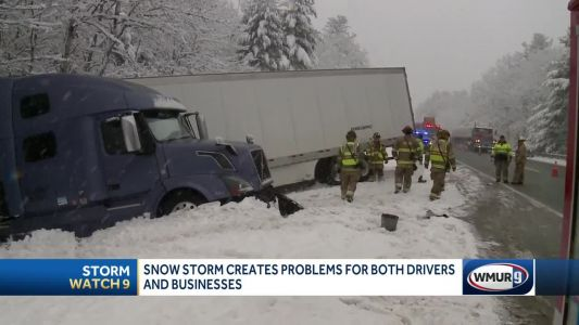 Snow makes for slippery conditions on NH roads