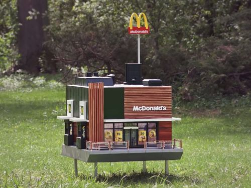 McDonald's just opened a tiny restaurant for bees - here's what it's like inside