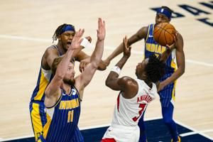 Anunoby's hot hand helps short-handed Raptors beat Pacers