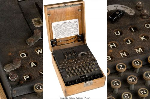 Nazi Enigma encryption machine sells for $106,250 at auction