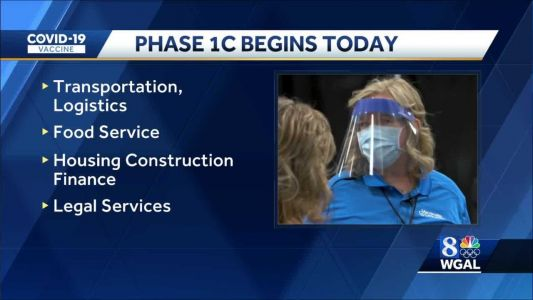 Pennsylvania now in Phase 1C for COVID-19 vaccinations