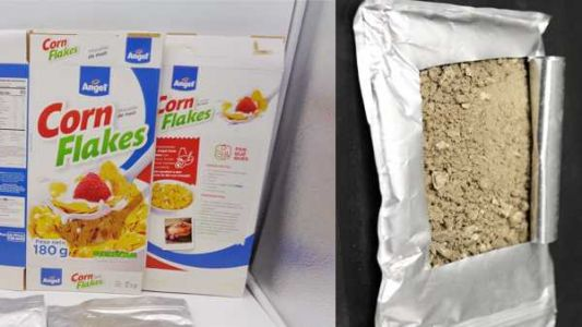 Feds seize 44 pounds of cocaine-coated corn flakes
