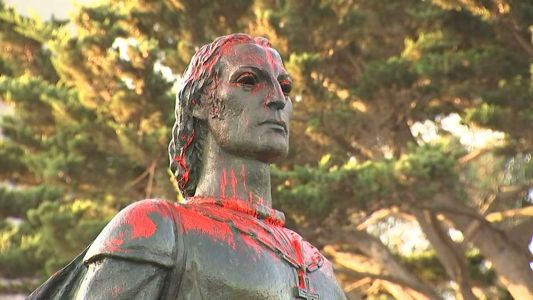 Columbus statue defaced in San Francisco