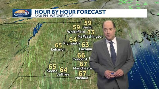 Cooler temperatures on the way after storm chances