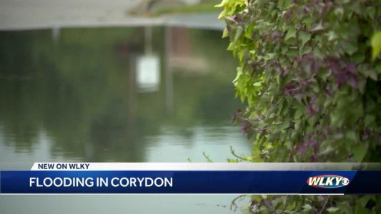Storms move through, leave behind flooding in Corydon