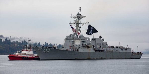 A US Navy destroyer just sailed into port flying the Jolly Roger - here's why the USS Kidd flies a pirate flag