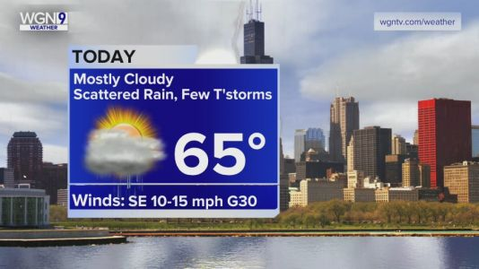 Thursday Forecast: Temps in mid 60s with scattered rain, few t-storms