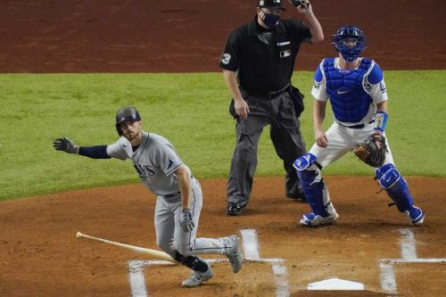 Rays hold off Dodgers 6-4 to even up World Series
