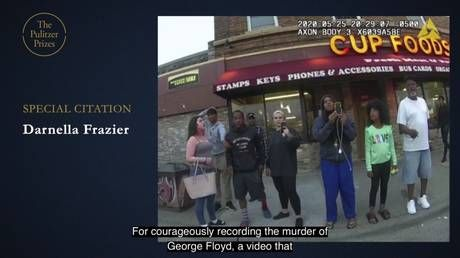 Teen who filmed George Floyd's death gets special citation by Pulitzer Prize board