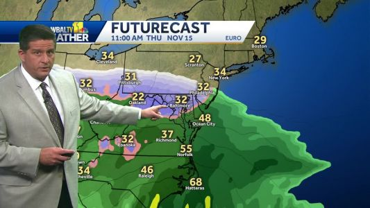 Light sprinkles possible Tuesday afternoon